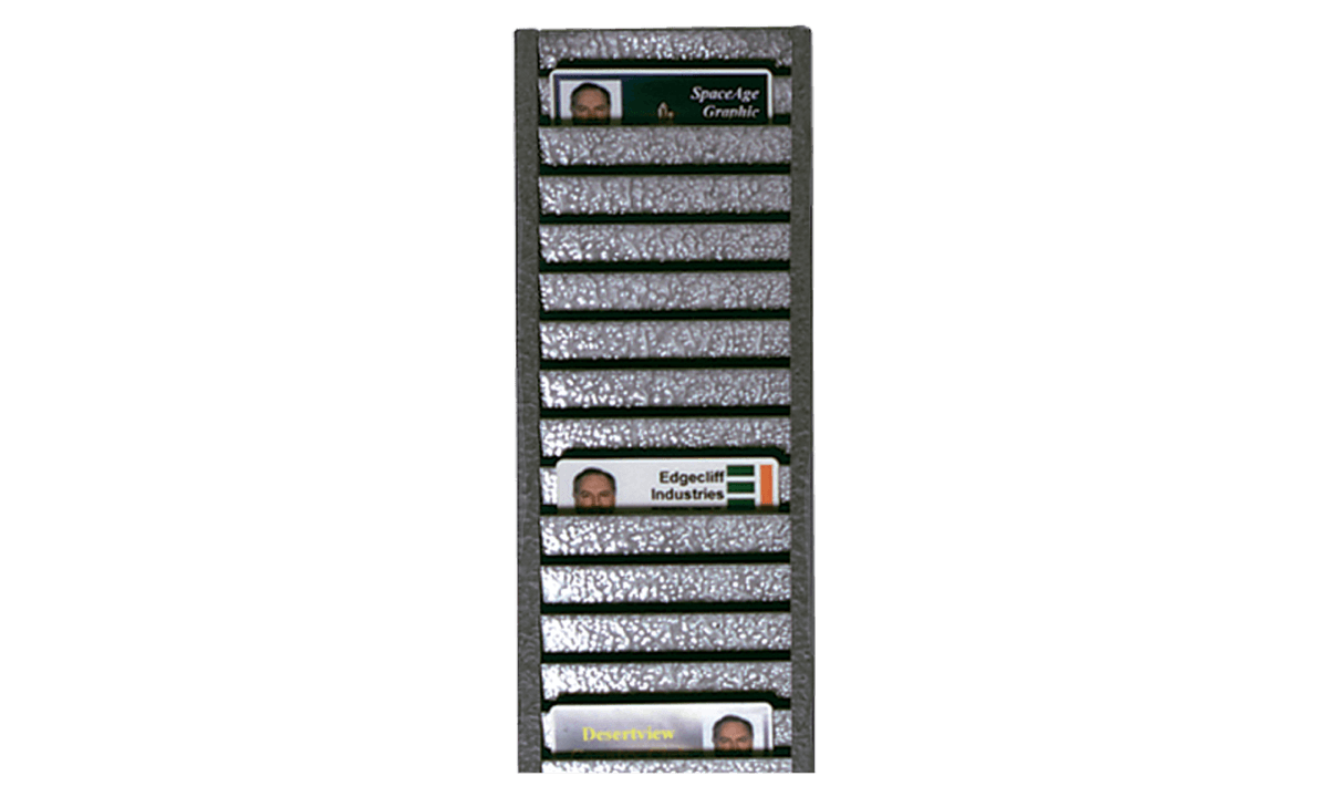 All-Metal ID Badge Rack (Holds 40 cards Horizontally)