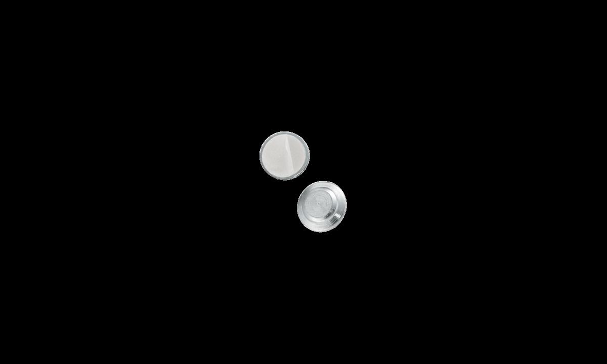 Adhesive Magnetic Attachment - Round Metallic Cast