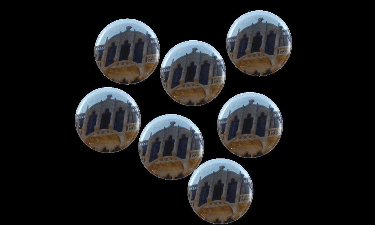 Button badges 25mm, round