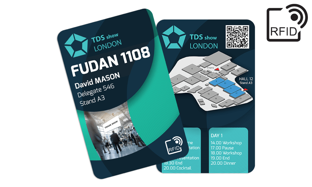 Custom RFID cards 133 x 85 mm - Fudan 1108