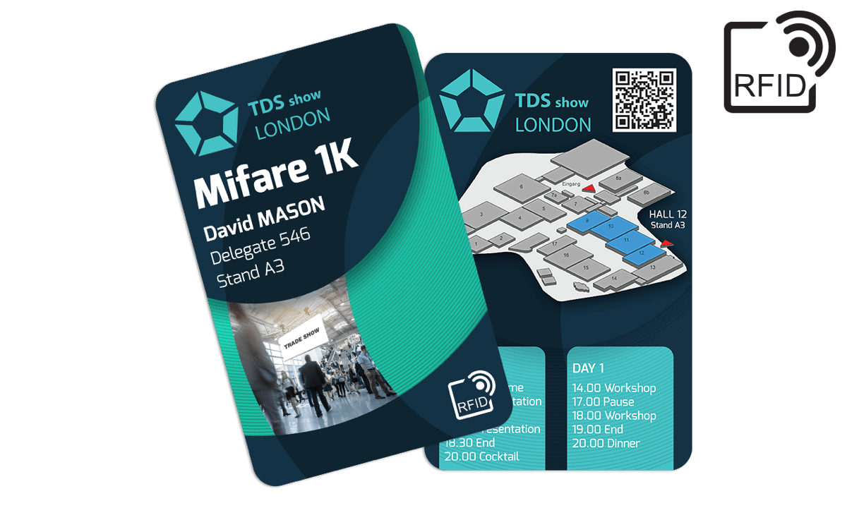 Custom RFID cards 133 x 85 mm - Mifare 1K