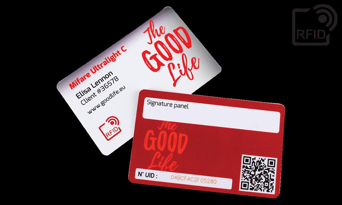 Custom RFID cards 86 x 54 mm - Mifare UltraLight C | PDC BIG