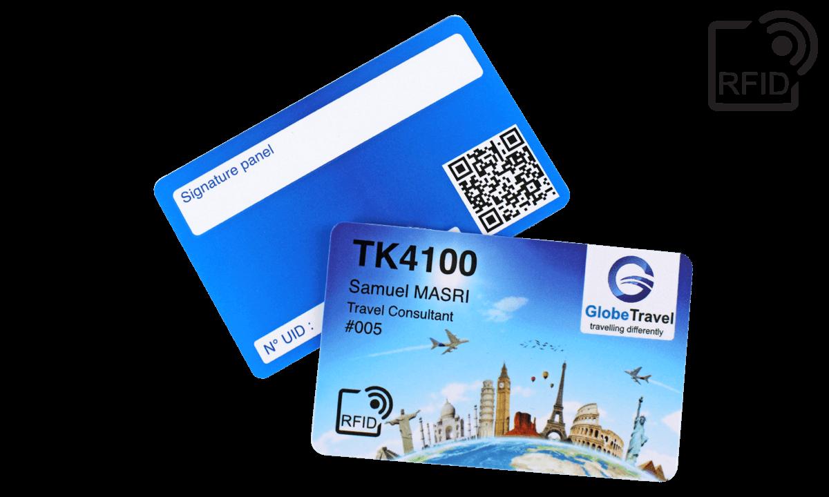 Custom RFID cards 86 x 54 mm - TK 4100