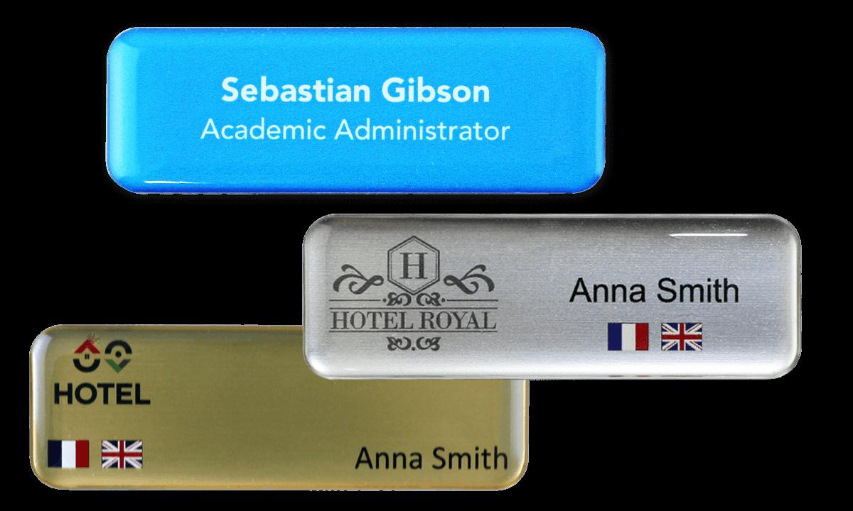 Premium Impress Name Badge, 75 X 25 mm