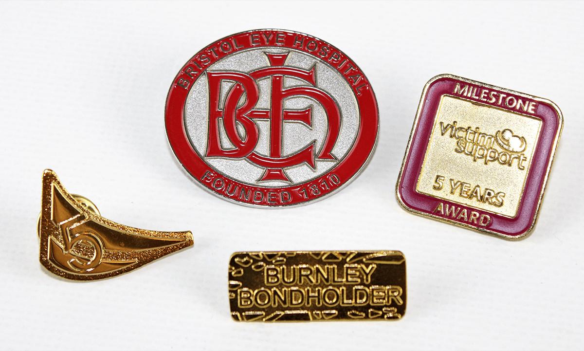 SandBlasted Metal Badges