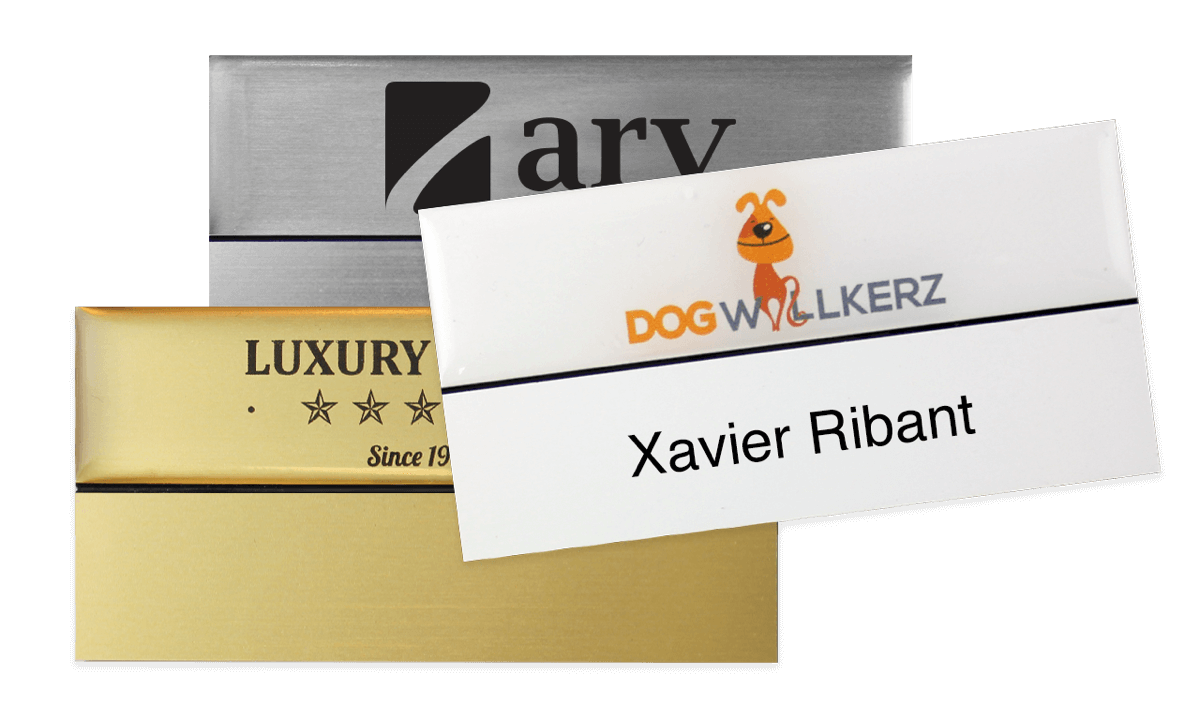 Premium Reusable Name Badge, 75 X 38 mm, 18 mm sticky label