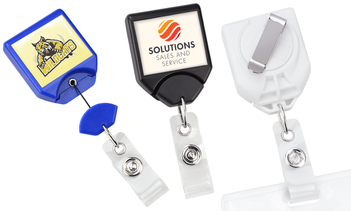 Custom Twist-Free B-Reel® Badge-Reel with Swivel Belt-Clip