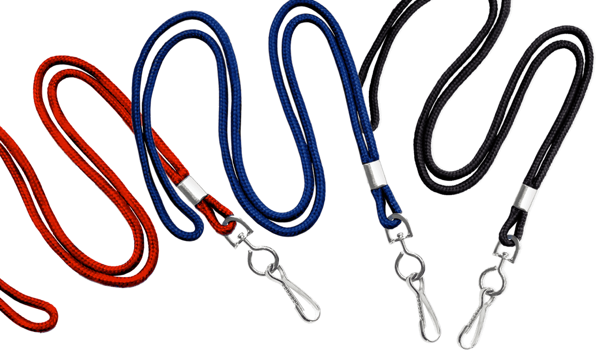 Round 3mm Lanyards with Metal Swivel Hook