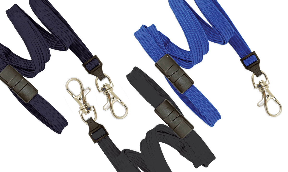Tubular 10mm Break-Away Lanyards with Trigger Hook