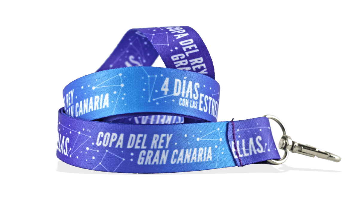 Custom 25mm Satin Lanyard - Full Colour Print