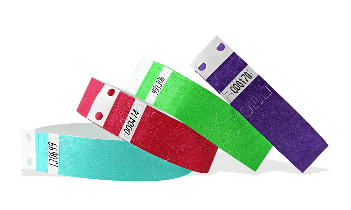 Pre-numbered Tyvek wristbands 19 mm
