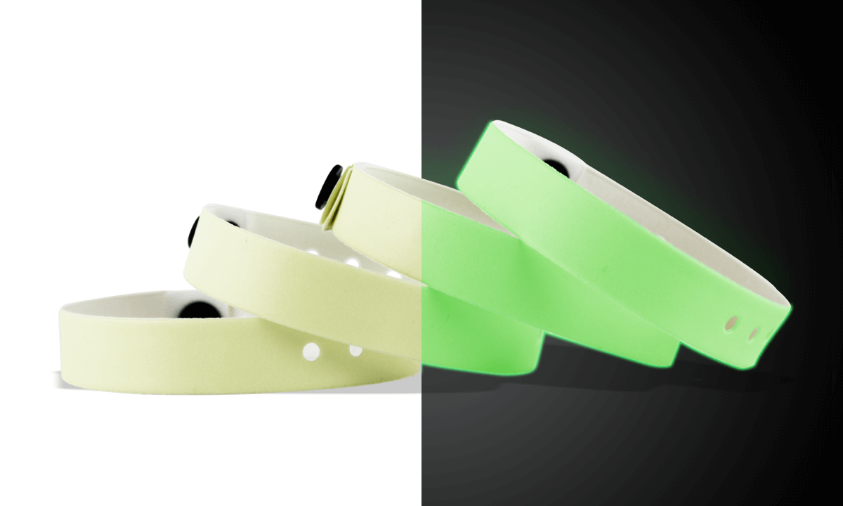 Glow In The Dark Vinyl Wristbands 13 mm