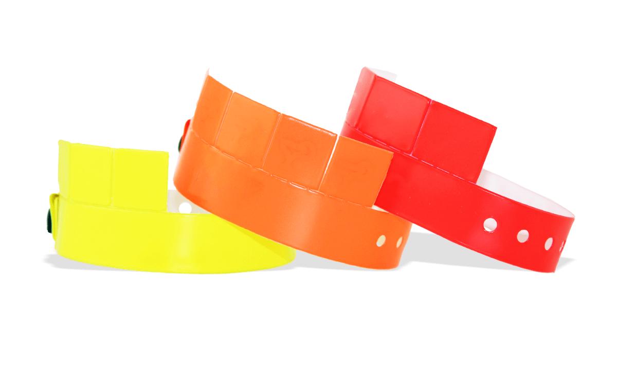 5-Tab Vinyl wristbands 19 mm