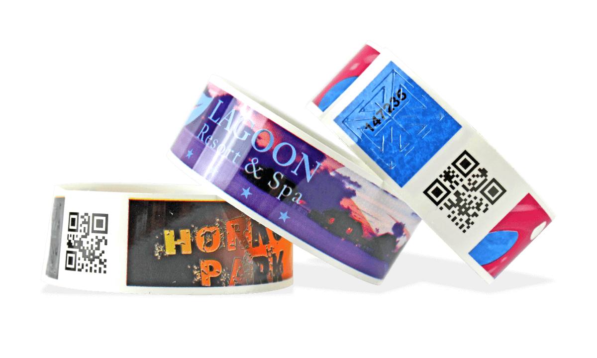 Full-Colour Bar code wristbands TVS 25mm (Glossy finish)