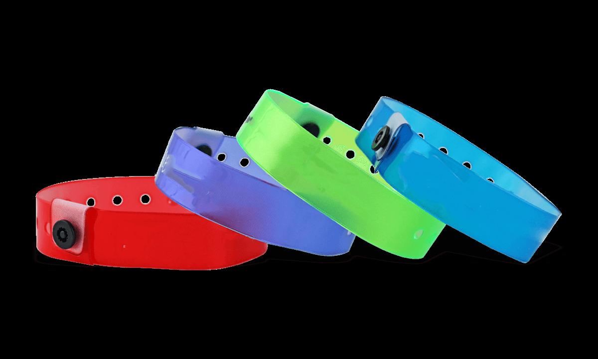 Plain Translucent Vinyl Wristbands, 19 mm