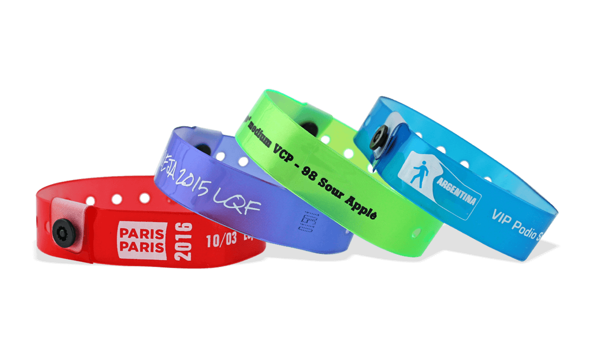 Custom Translucent Vinyl Wristbands, 19 mm