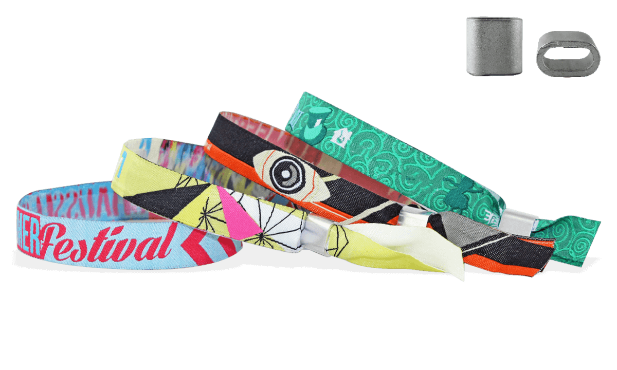 Woven wristbands with metal flat closure, Honolulu