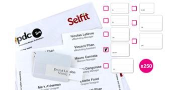 Multimega Selfit® Inserts, 75 x 36 mm, White, 250 inserts
