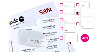 Grande Selfit® Inserts,  95 x 24 mm, White, 500 inserts