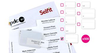 XL Selfit® Inserts, 86 x 24 mm, White, 500 inserts