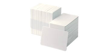 Blank White PVC cards - 750 mic