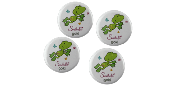 Button badges 32mm, round