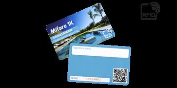 Custom RFID cards 86 x 54 mm - Mifare 1K