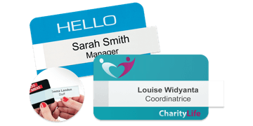 Reusable Selfit Double line Name Badges, 70 X 40 mm