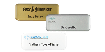 Premium Impress Name Badge, 65 X 25 mm