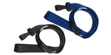 Flat 16mm Break-Away Lanyards with Plastic Hook