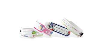 Custom Full-Colour plastic wristbands 19 mm for Kids