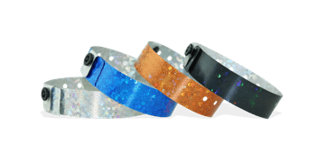 Holographic wristbands 19 mm liquid glitter