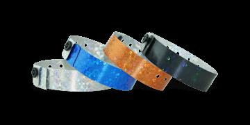 Holographic wristbands 19 mm liquid glitter