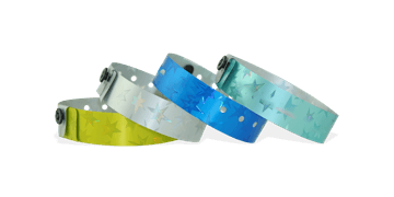 Holographic wristbands 19 mm stars