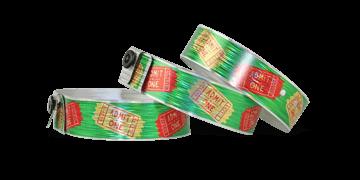 Custom Full-Colour Holographic wristbands 19 mm rain