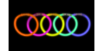 Assorted Coloured Glow Bands