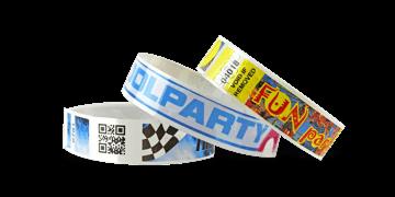 Full-Colour Bar code wristbands NPS 19mm (Matte finish)