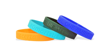 Custom Silicone Wristbands, Large Size, Debossed
