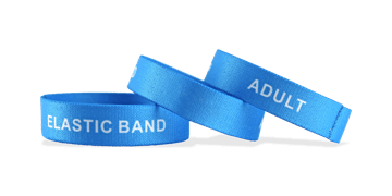 Custom Stretch Wristbands, Large Size