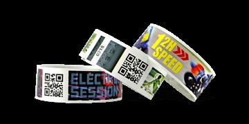 Full-Colour Bar code wristbands TPS 25mm (Matte finish)