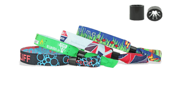 Woven wristbands with plastic sliding clip closure, Oslo